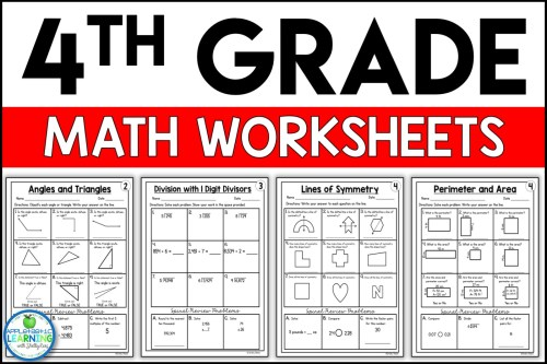 small resolution of 4th Grade Math Worksheets Free and Printable - Appletastic Learning