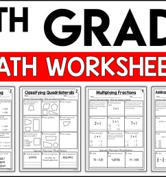 5th Grade Math Worksheets Free and Printable - Appletastic Learning [ 933 x 1400 Pixel ]