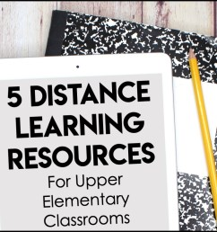 5 Distance Learning Resources for Upper Elementary Classrooms - Appletastic  Learning [ 933 x 1400 Pixel ]