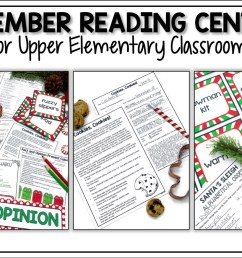 December Reading Activities for Upper Elementary - Appletastic Learning [ 933 x 1400 Pixel ]