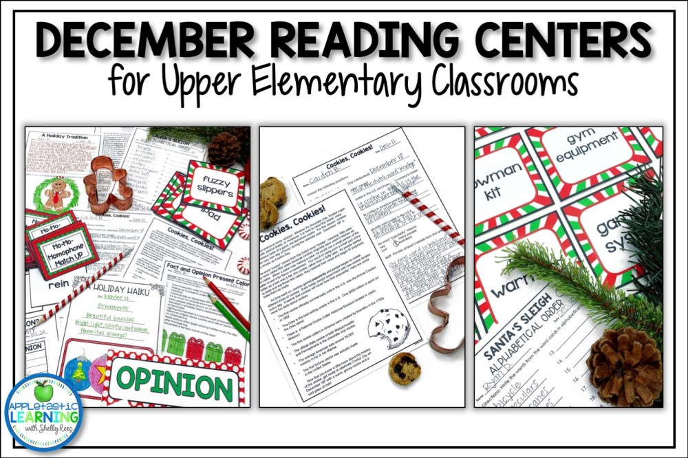 medium resolution of December Reading Activities for Upper Elementary - Appletastic Learning