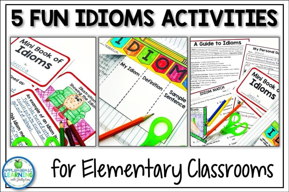 medium resolution of 5 Fun Idiom Activities - Appletastic Learning