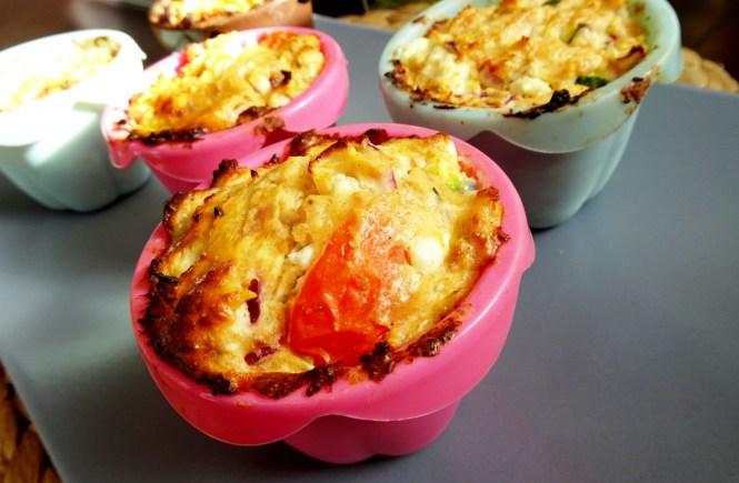 zucchini feta muffins