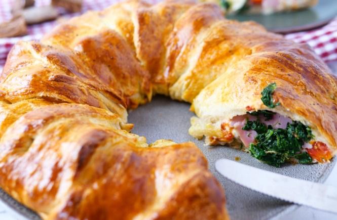 partyfood rezepte croissant ring