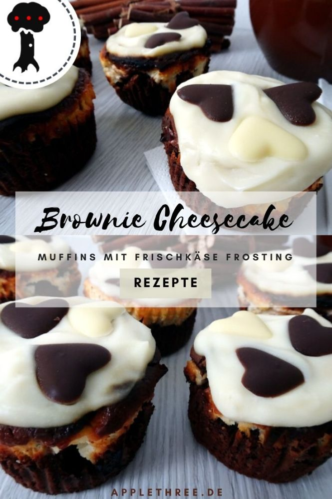 brownie cheesecake muffins