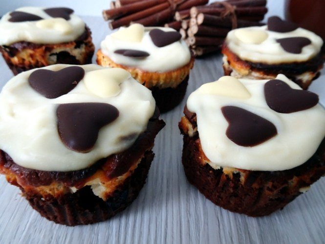 Brownie Cheesecake Muffins Rezept
