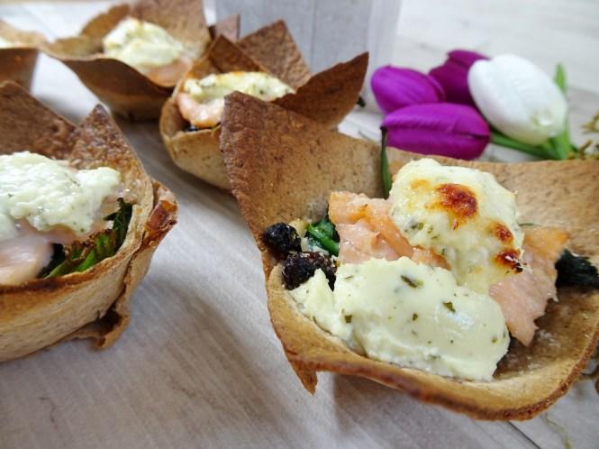 mini tortilla cups lachs