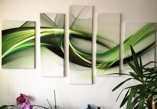 esszimmer bild grün