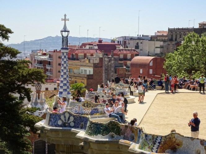 barcelona citytrip park güell absperrbereich