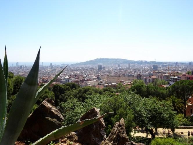 barcelona citytrip park güell view