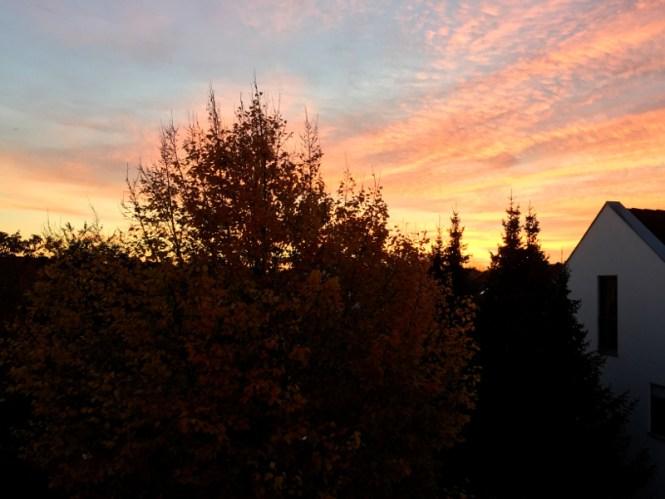 12von12 oktober sonnenuntergang