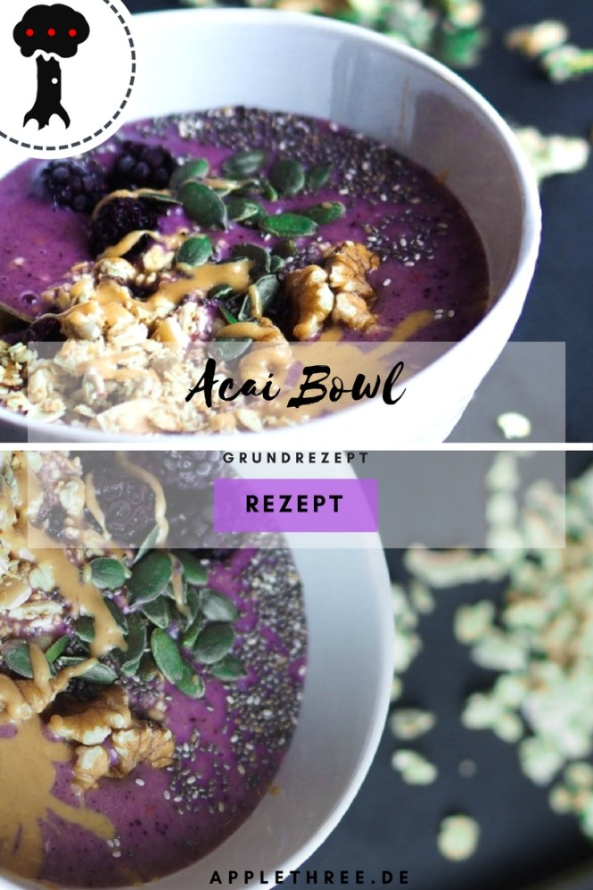 grundrezept acai bowl applethree