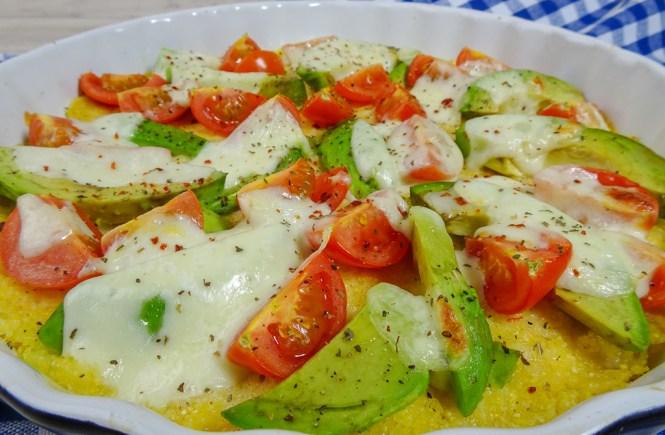 Polenta Pizza Mozzarella