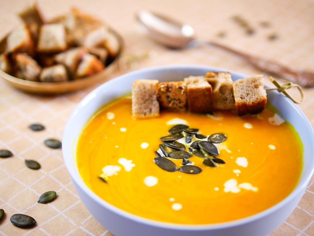 Kürbissuppe mit Karotten