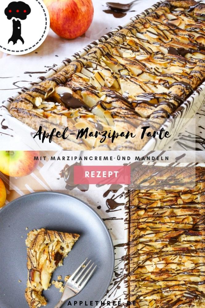 Apfel Marzipan Tarte