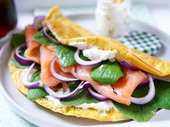 Low Carb Omelette Rezept mit Lachs