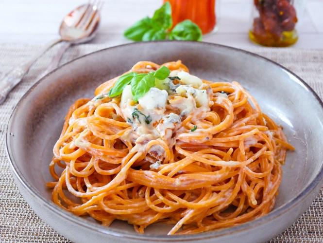 Rote Linsen Pasta Rezepte mit Gorgonzolasauce