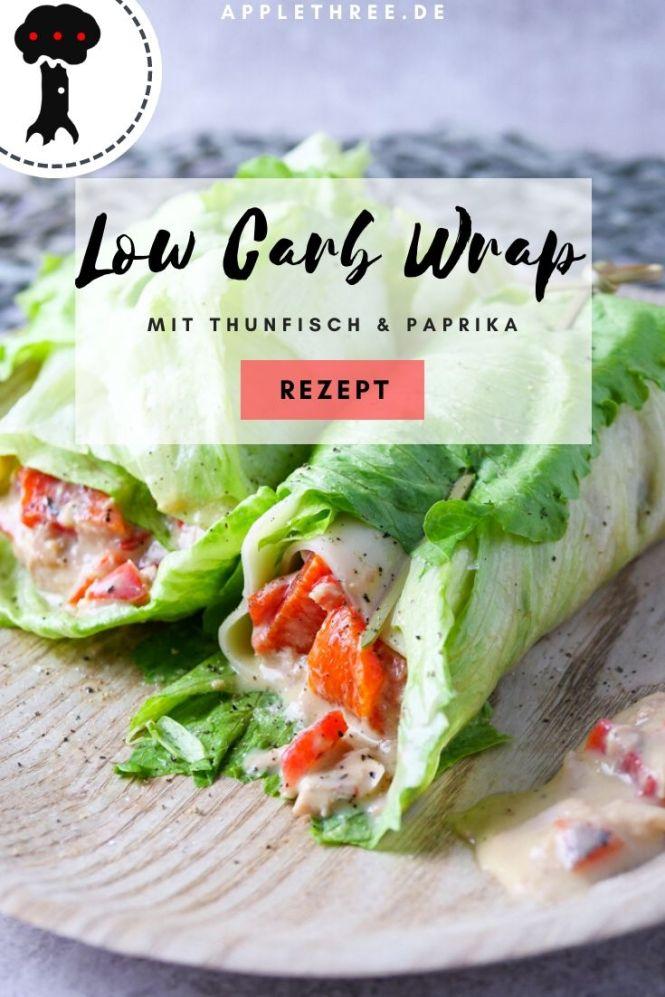 salat wrap low carb frühstück