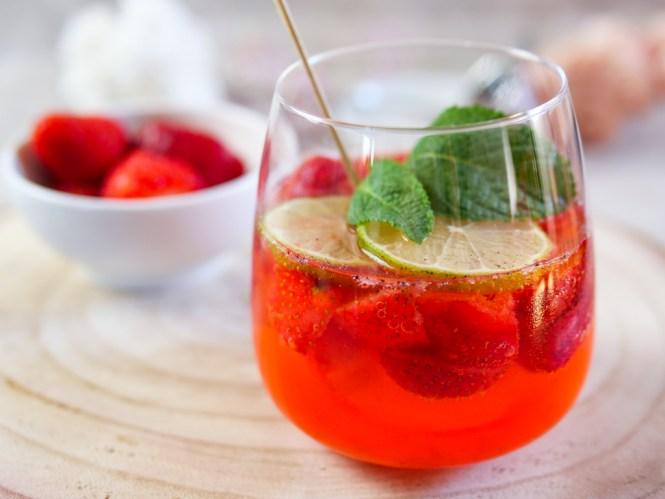 erdbeer bowle rezept alkoholfrei