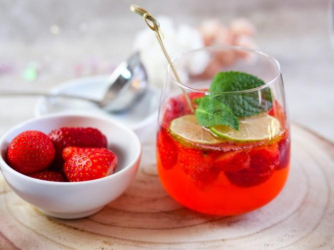 erdbeer bowle rezept