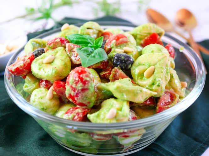 tortellini salat rezept vegetarisch