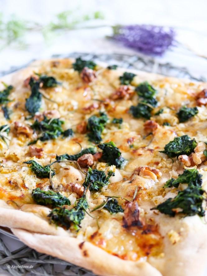 spinat pizza rezept