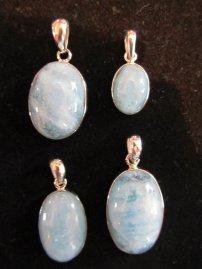 Aquamarine pendants