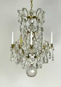 Early Crystal Chandelier - Appleton Antique Lighting