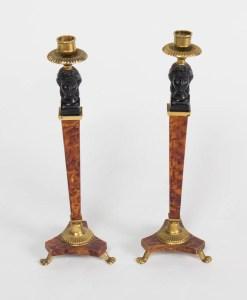 Pair of Biedermeier Style Candlesticks