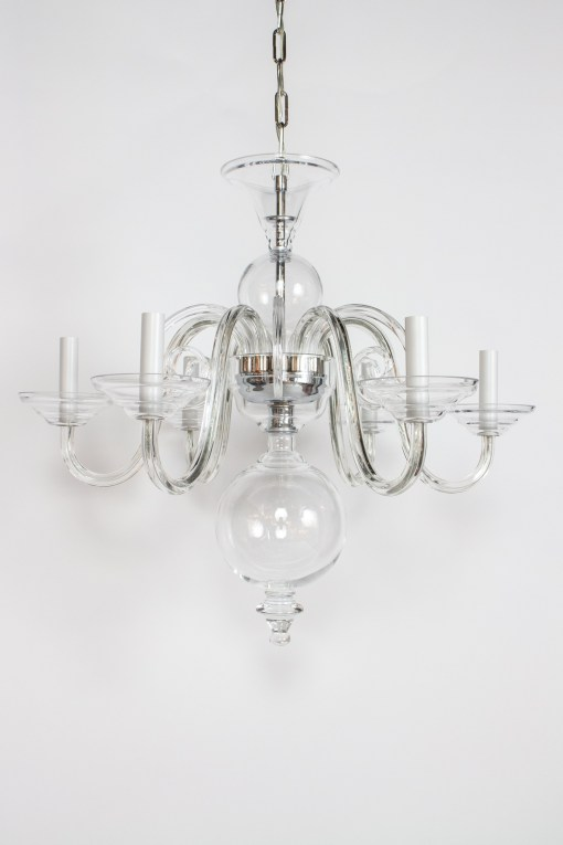 C417: Preciosa Clear Glass Chandelier