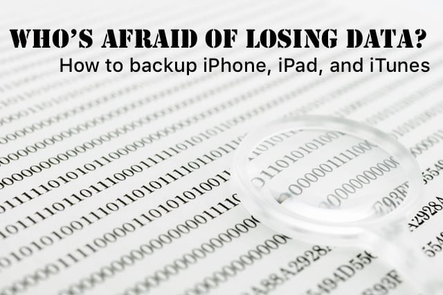 Who's Afraid of Losing Data? Comprehensive Guide to iOS