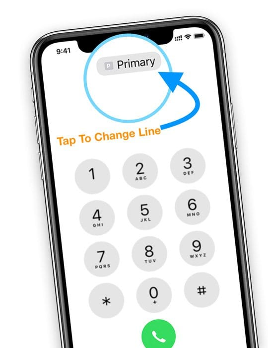 Switch phone numbers for a call on Dual SIM or eSIM iPhone