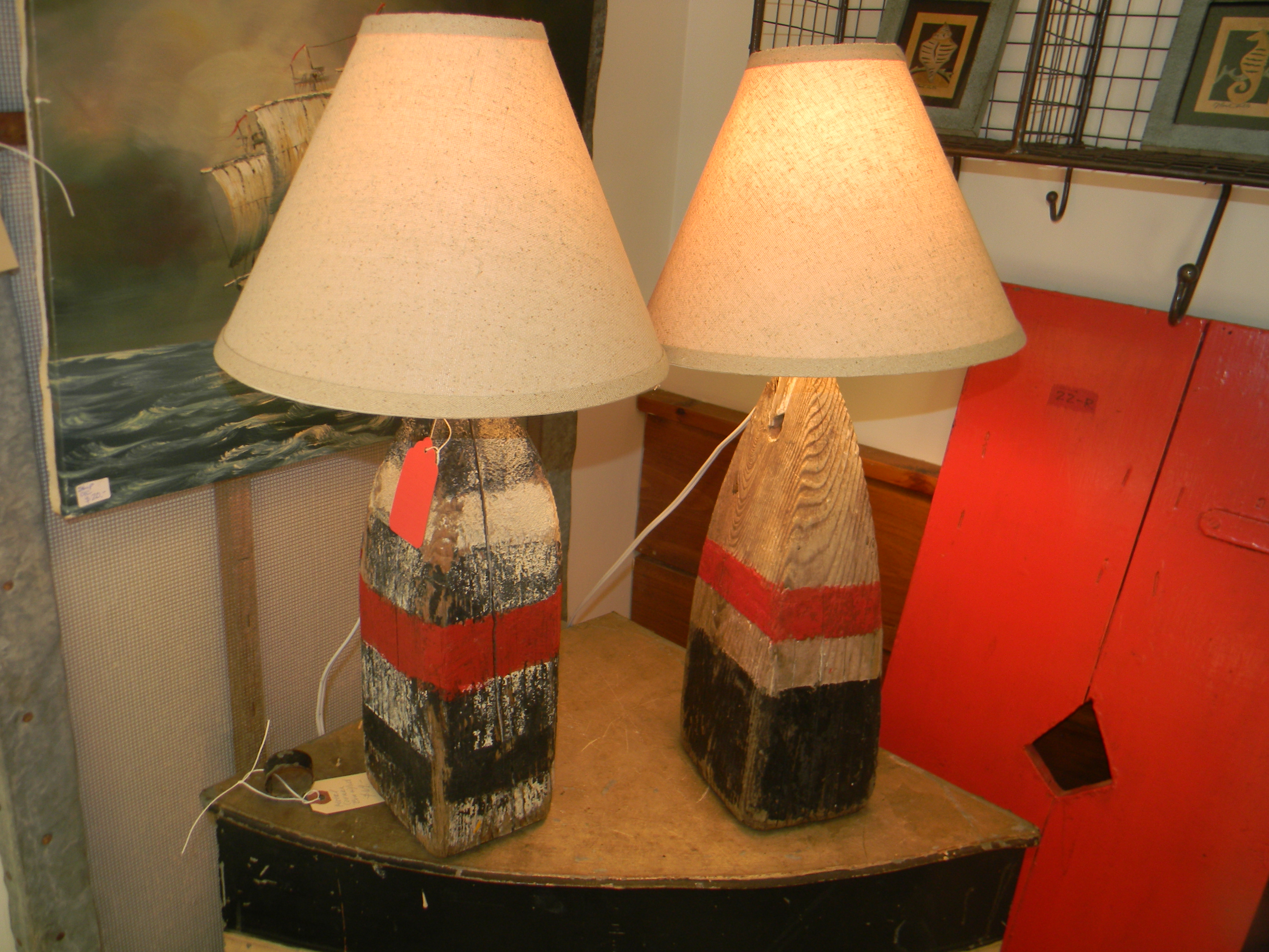 Buoy Lamps  Appletree Cottage Antiques  Home