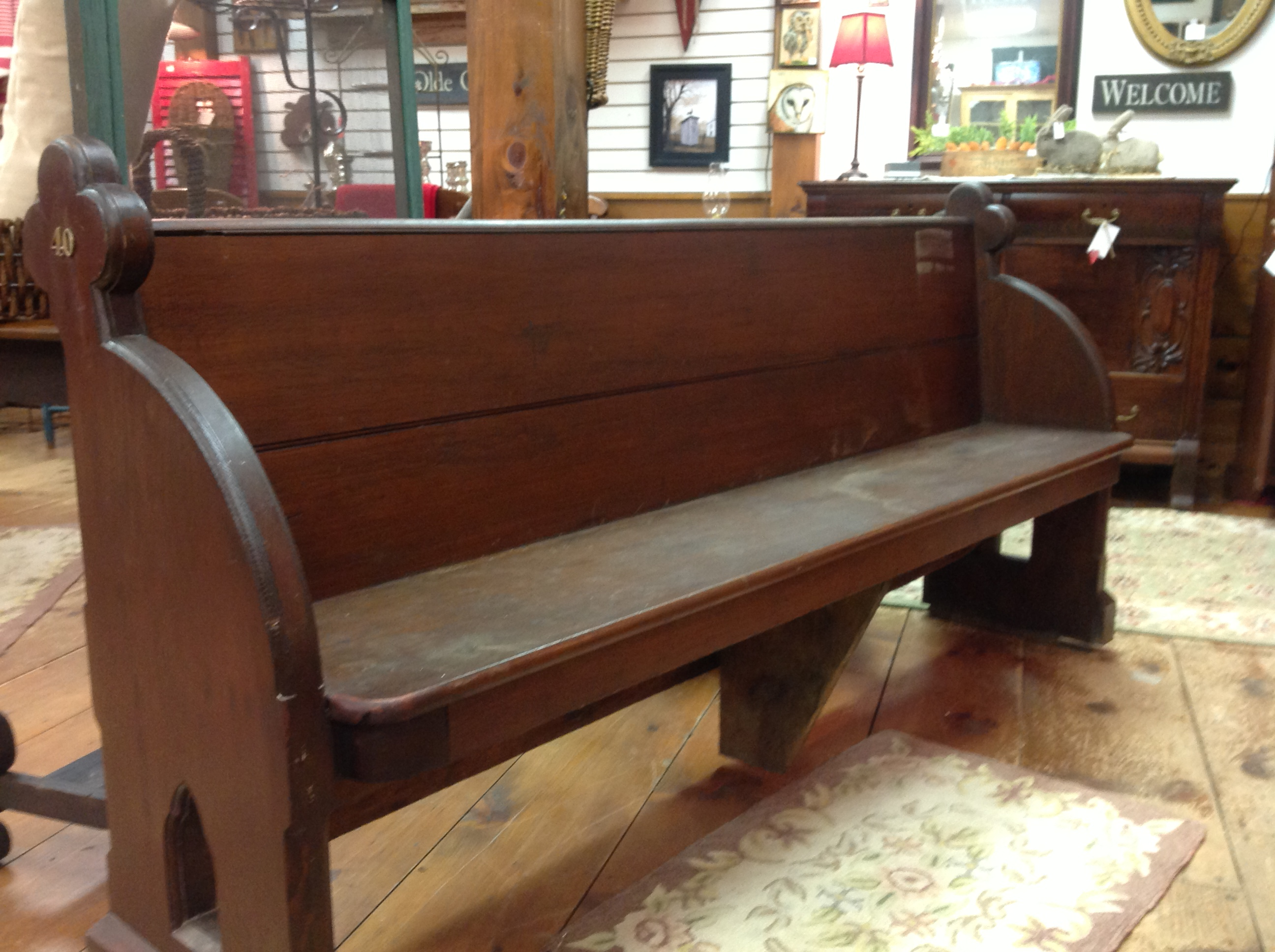 Church pew  Appletree Cottage Antiques  Home