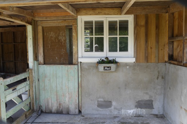 After: Entrance to the cowshed