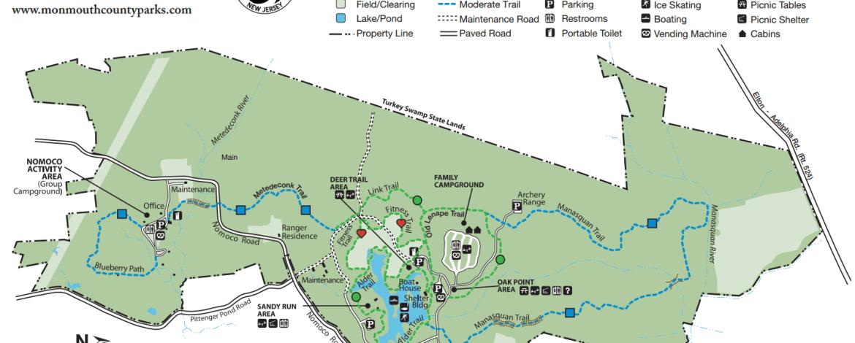 map of turkey swamp park