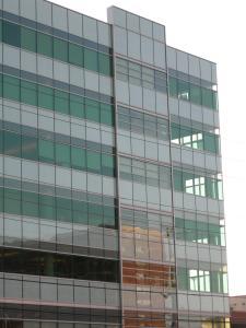 Trillium Office Building  Applewood Glass  Mirror