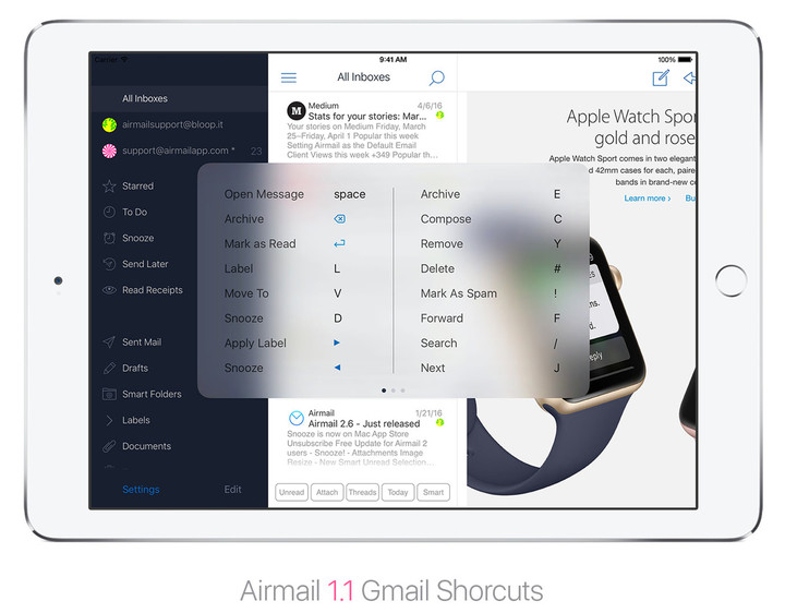 Airmail11_Gmailshortcuts
