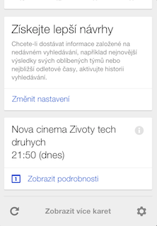 Google now card
