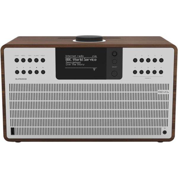 REVO SuperCD 5060136411908 Digital Radio in Walnut and Silver