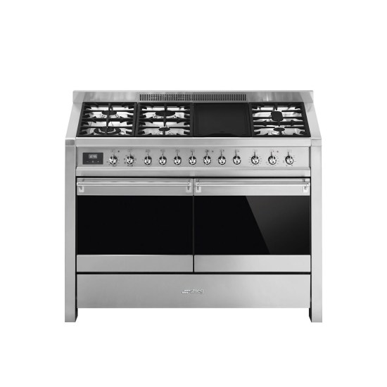 Smeg A4-81 Opera 120cm Dual Fuel Range Cooker - Stainless Steel