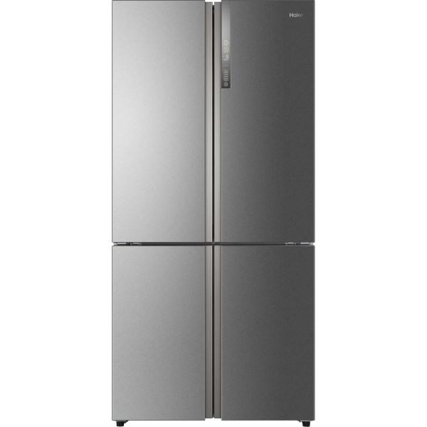 Haier HTF-610DM7 A++ Frost Free Four Door American Fridge Freezer - Stainless Steel