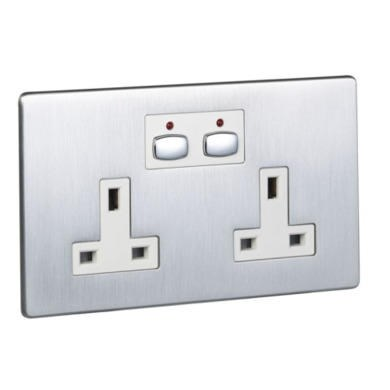 Energenie MiHome Style - Double Socket - steel