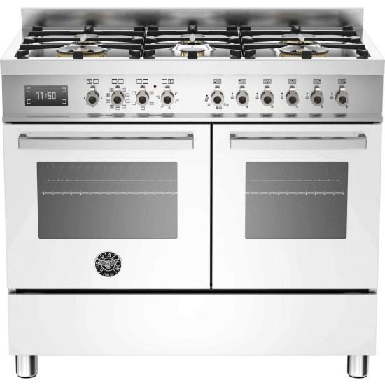 Bertazzoni PRO100-6-MFE-D-BIT Professional Series 100cm White Dual Fuel Range Cooker