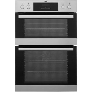 AEG DCB331010M Integrated Double Oven in Stainless Steel