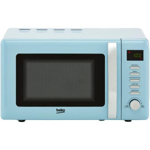 Beko Retro MOC20200M Free Standing Microwave Oven in Mint Blue