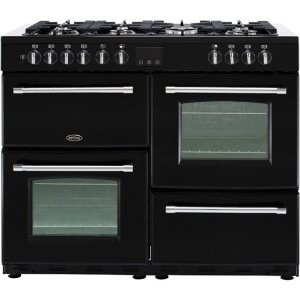 Belling Farmhouse110DF Free Standing Range Cooker in Black