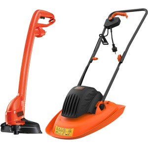 Black + Decker BEMWH551GL2-GB Lawnmowers in Black / Orange