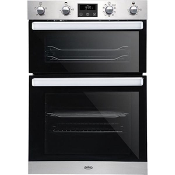 Belling BI902MFCT Integrated Double Oven in Stainless Steel