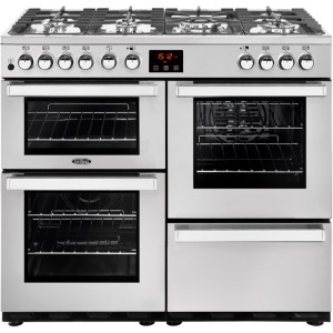 Belling Cookcentre100DFT Prof Free Standing Range Cooker in Stainless Steel